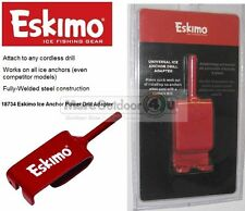 18734 Eskimo Ice Anchor Power Drill Adapter Anchors Ice Fishing Shelter