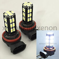 H11 Samsung LED 30 SMD Bright White 6000K Headlight 2x Light Bulbs #s2 Low Beam