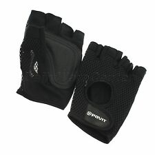 Sport Gym Weight Lifting Fingerless Gloves Fitness Training Body Building Straps