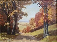Orig Oil on Board LANDSCAPE by R. Bonin (Robert Bonin b.1900) LISTED ARTIST!