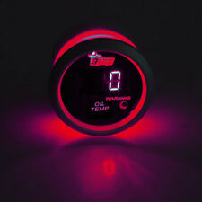 "2"" 52mm Black Car Truck Digital Red LED Oil Temp Temperature LED Gauge Kit"