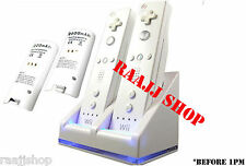 DUAL DOCKING STATION + 2x BATTERIES + BATTERIES SUPPORT + CABLE FOR WII REMOTE
