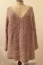 Anthropologie Moth Pullover Fisherman Knit Oversized Sweater XS/S