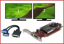 Dell Vostro 270 400 460 470 MT Full Tower Dual VGA Monitors Video Card PCI-e x16