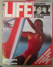 Feb. 1981 LIFE Magazine - Exclusive: John Lennon at Home inside Photo Spread...
