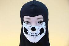 D Style Skull Ghost Full Face Mask Hood Biker Balaclava Cosplay COD Costume