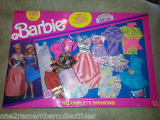 BARBIE CLOTHES 10 Complete Fashions 20 DRESS OUTFITS Shoes 1991 MATTEL Vintage