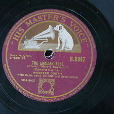 78rpm WEBSTER BOOTH the english rose / the faery song
