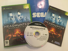 1 ORIGINAL XBOX GAME HEADHUNTER REDEMPTION +BOX INSTRUCTIONS COMPLETE PAL