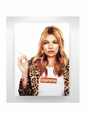 Kate Moss Supreme Art For Home Decor Wall Art On Canvas 24x30 Limited Numbered