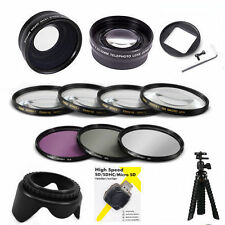WIDE ANGLE LENS + TELEPHOTO ZOOM + FILTER KIT + MACRO + TRIPOD FOR GOPRO HERO4