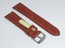 "DI-Modell Genuine Cowhide Waterproof Leather 22mm BROWN Watch Band ""POLO SHERPA"""