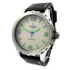 Fossil Nate Herren Uhr Armbanduhr Edelstahl Leder schwarz JR1461 NEU