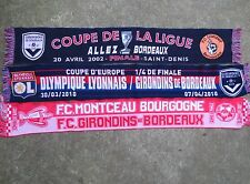 Lot 3 Echarpe de match GIRONDINS DE BORDEAUX Finale Coupe de la Ligue Lorient OL