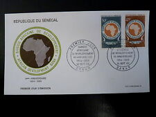 SENEGAL AERIEN 322/23   PREMIER JOUR FDC   BANQUE DEVELOPPEMENT    30+45F   1969
