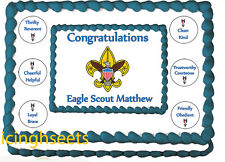 Boy Scout Eagle Court of Honor Edible image cake top Icing sheet 1/2 sheet 3