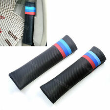 Car All Carbon Seat Belt Shoulder Fit For BMW M3 Emblem Cushions Cover Auto Pad