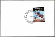 Somaliland 1998 Hartebeest Airmail Official Imperf Blue Overprint Cover #C33798