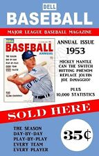 Mickey Mantle 1953 Dell Magazine Store Counter Advertising Standup Sign Repro