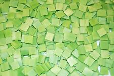 "100 1/2"" Spring Green Tumbled Stained Glass Mosaic Tiles"