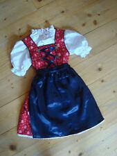 Coala Kinder Dirndl Bluse rot blau weiß Gr. 86/92 98/104 110/116 122/128 134/140