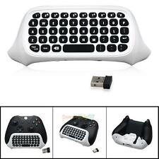 2.4G Mini Wireless Chatpad Message Keyboard White for Xbox One Slim Controller
