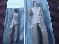 Vogue 1480 Donna Karan formal wear top and pants Sewing Pattern size 12 thru 20