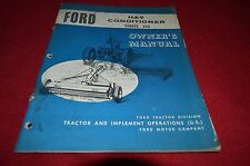 Ford Tractor 510 Hay Conditioner Operator's Manual YABE11