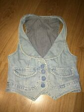 Ladies Denim Waist Coat - Size 8