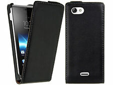 NEW Magnetic Flip PU Leather Skin Case Cover Shell For Sony Xperia J ST26i