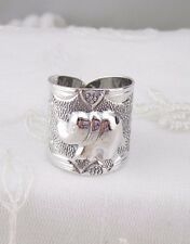 Wide Elephant Design Ring Size 7 925 Sterling Silver Fashion Jewelry NEW