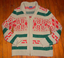 PENDLETON MENS LEBOWSKI THE DUDE SWEATER ZIP SHAWL COLLAR COWICHAN CHRISTMAS