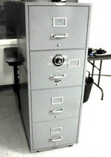 Vintage Remington Rand Fire Insulated Safe 4 Drawer High Security Combo