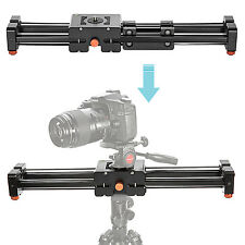 "Neewer 15"" Extendable to 30"" Track Dolly Rail Slider Video Stabilizer for Canon"