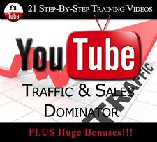 Learn How To Dominate Website Traffic Using YouTube (21 Training Videos)+BONUSES