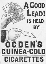 OGDEN'S GUINEA GOLD CIGARETTES Playing Cards - Victorian Advert 1897