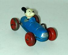 Celluloid Mickey Mouse In A Tin Wind-Up Race Car   Occupied Japan
