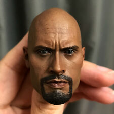 Custom 1/6 Scale Dwayne Johnson Head Sculpt for Hot Toys Muscular Body Headplay