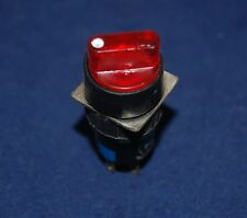 2PCS 16mm Round ILLUMINATED Selector switch 3 Position RED 12V LED MAINTAIN