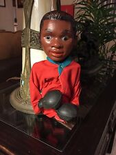 """Vintage """"MUHAMMAD ALI"""" Hand Puppet Red Robe - Hand Operated Boxing Action & Mag."""
