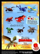 2010 McDonalds How to Train Your Dragon MIP Complete Set of 8, Boys & Girls, 3+