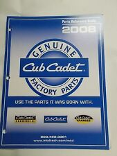 CUB CADET 2008 PARTS REFERENCE QUIDE