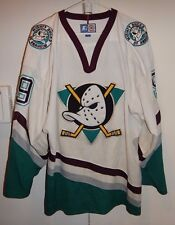 VINTAGE STARTER ANAHEIM MIGHTY DUCKS PAUL KARIYA #9 NHL HOCKEY JERSEY XL WHITE
