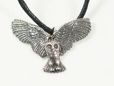 Owl in flight  English Pewter Pendant