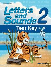 A Beka Letters and Sounds 2 Test Key Third Edition - 2nd Grade