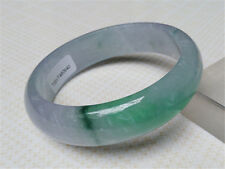 62.5mm Certified (Grade A) Natural Lavender Green Jadeite Jade Bracelet Bangle