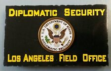 Diplomatic Security Los Angeles Field Office w State Dept DSS Emblem Marble Desk