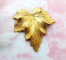 BRASS (2 Pieces) LEAF Stamping - Jewelry Finding (FB-6039-667)