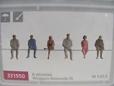 Pola G 331950 sitzende Waggon-Reisende für Spur G (6 Figuren) NEUWARE mit OVP