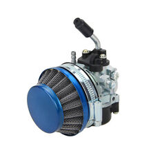 Carburetor Racing Carb Blue Air Filter For Motorized Bicycle 49 50 60 66 80cc